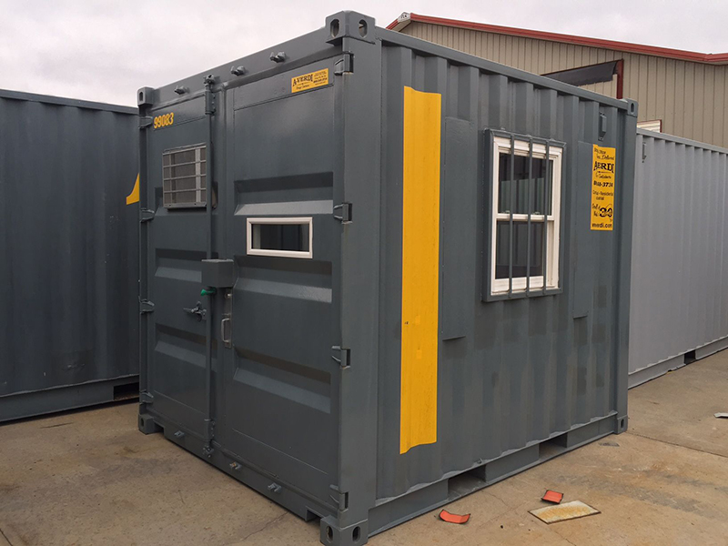 On-site Ground Level Office Containers - A-Verdi