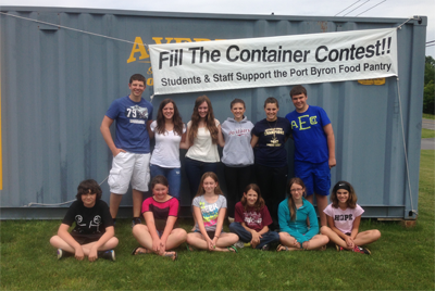 Fill the Container Food Drive in Port Byron
