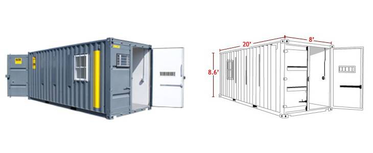 20' Ground Level Storage Container