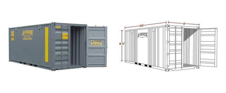 20' Quad Door Shipping Container