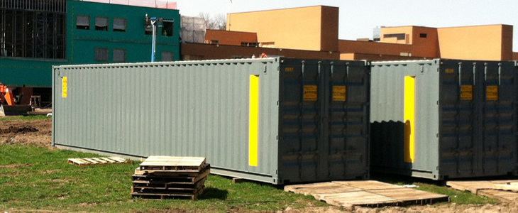 40' On-site shipping container