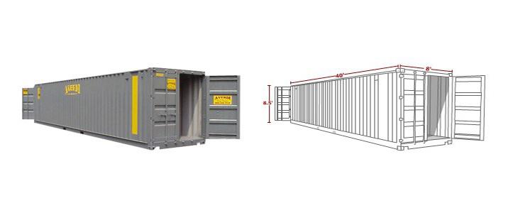 40' Ground Level Storage Container