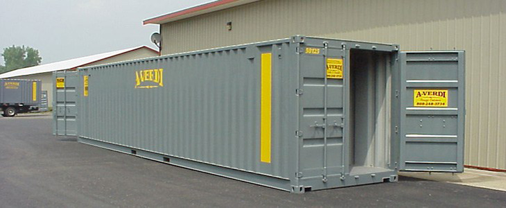 Quad Door Shipping Container