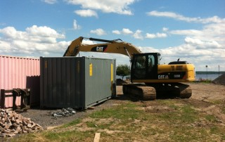 20' Storage Container on construction site in Buffalo NY