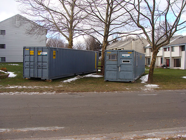 Office Container and Storage Container at housing complex