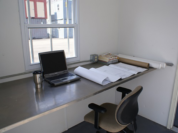 On-site Ground Level Office Space inside a ISO Container