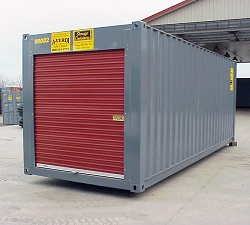 Storage Container with Custom Door - Roll Up Door