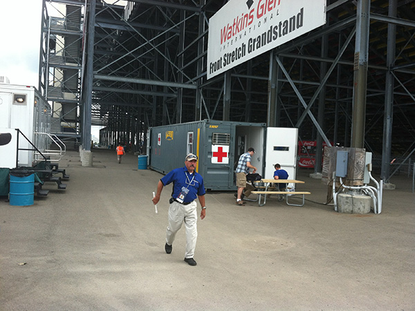 Ground Level Office Container Used As First Aid Station at Special Event