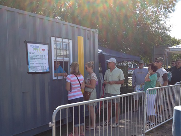 Office Container Used as Ticket Booth at Wine Festival