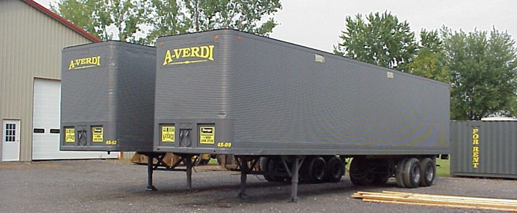 Dock Level Storage Trailers For Rent or For Sale