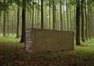Shipping Container Used as Hunting Camp Storage A Verdi