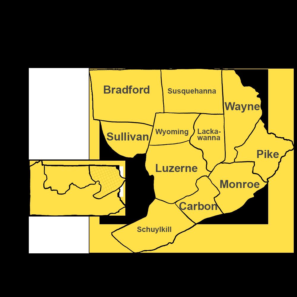 Northeastern Mountains of Pennsylvania, Poconos