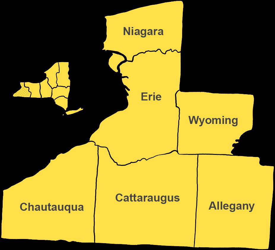 Central New York including Syracuse, Binghamton, Ithaca, Oswego, Cortland, Fulton and Auburn